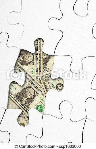 puzzle with money - csp1683000