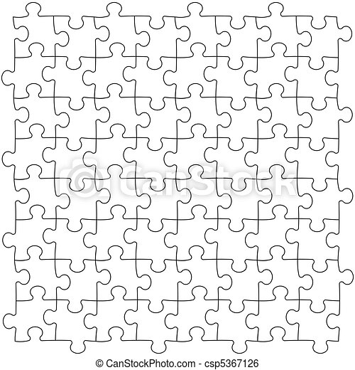 Puzzles seamless template - csp5367126