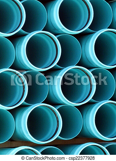 PVC pipe ends - csp22377928