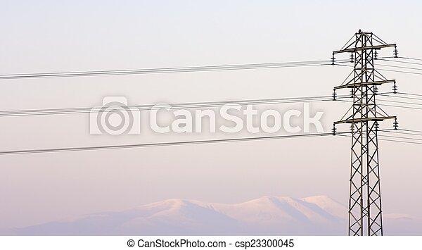 pylône, vue - csp23300045