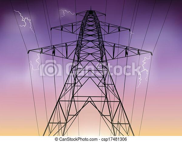 pylon elektryczności - csp17481306