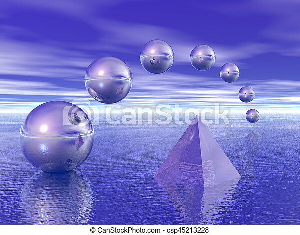 Pyramid and spheres - csp45213228