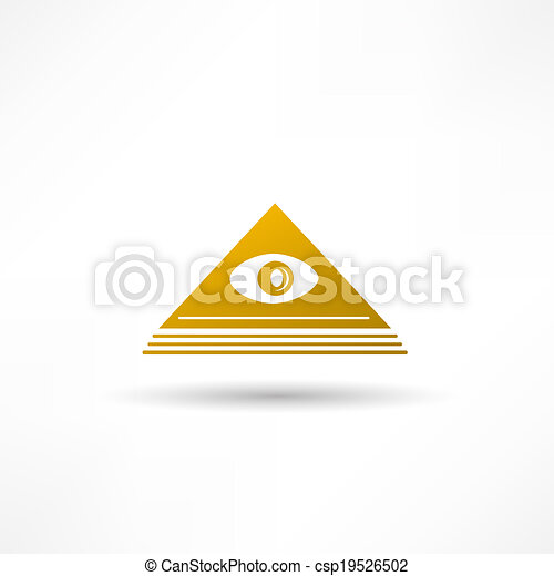 Pyramid Eye - csp19526502