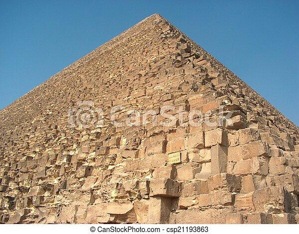 Pyramid, Giza, Egypt - csp21193863