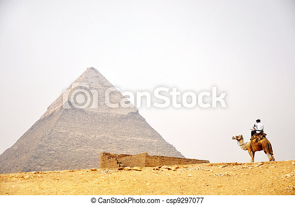 Pyramid Giza in Cairo Egypt - csp9297077