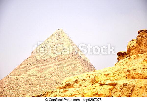 Pyramid Giza in Cairo Egypt - csp9297076