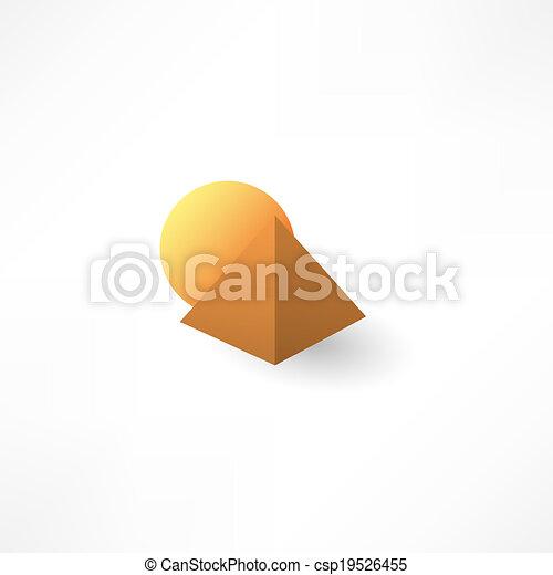 pyramid icon - csp19526455