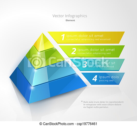 pyramid infographic - csp19776461