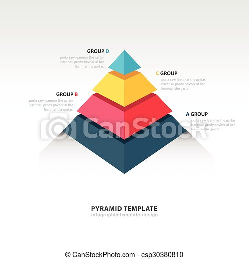 Pyramid Infographic Template Vector Clip Art  Search Illustration