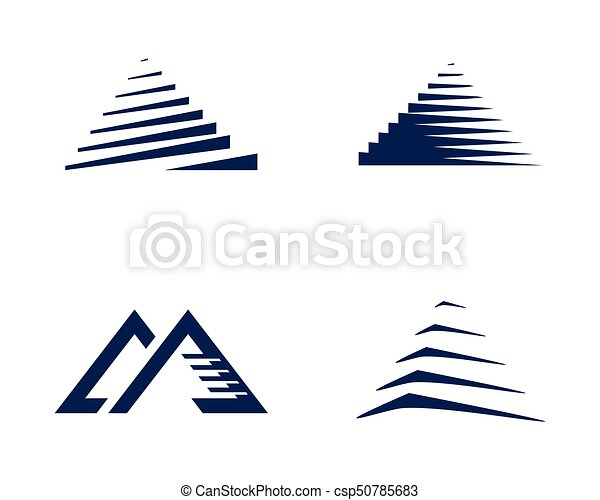 pyramid logo template vector ilustration