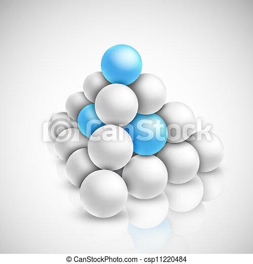Pyramid of balls - csp11220484