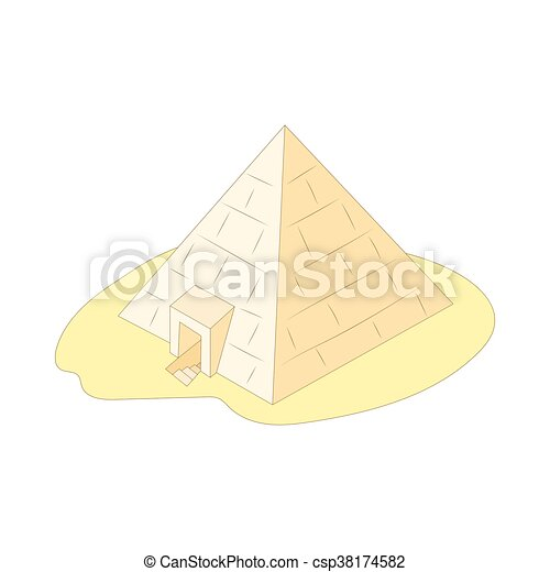Pyramid of Giza, Egypt icon, cartoon style - csp38174582