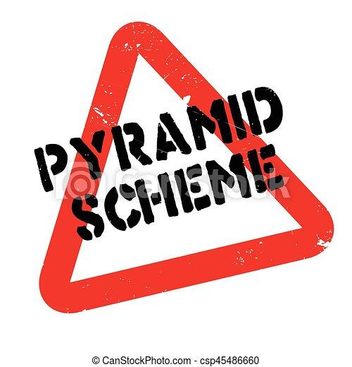 Pyramid Scheme rubber stamp - csp45486660