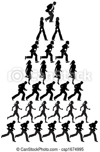 pyramide, businesspeople - csp1674995