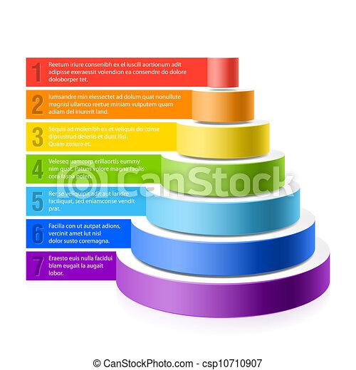 pyramide, diagramme - csp10710907