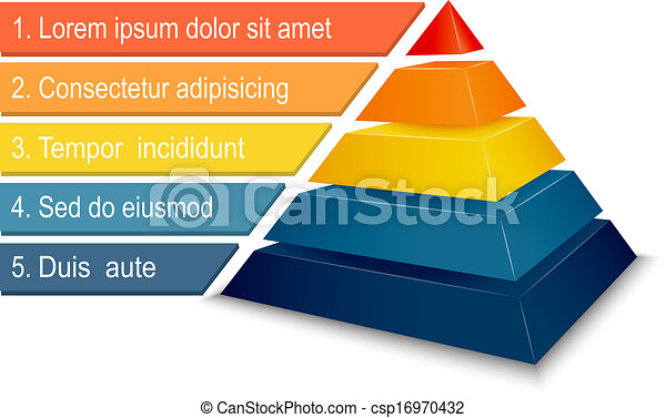 pyramide, tabelle, infographics - csp16970432