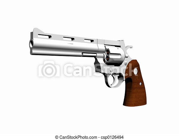 Combat Python 3d render, illustration of a gun. high resolution picture over white