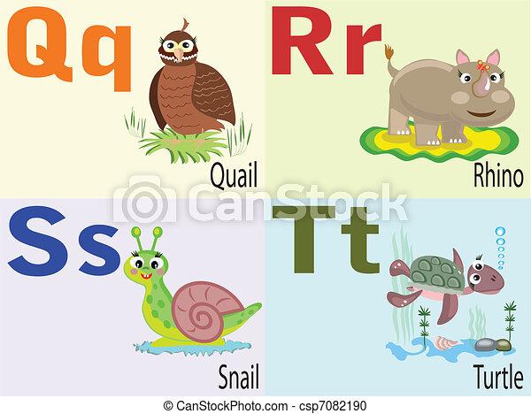 q, alphabet, animal - csp7082190