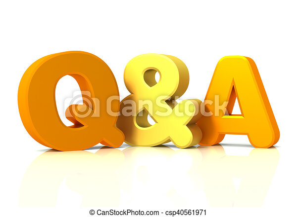 Q Line Art : Q and a concept d illustration isolated on white