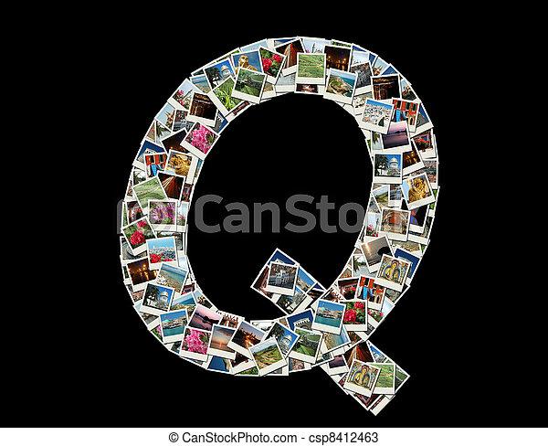 """Q"" litera -collage of travel photo - csp8412463"