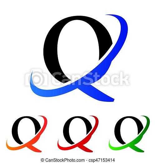 Q Logo Initiale Lettre Swoosh