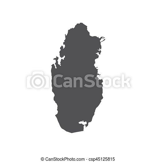 Qatar map silhouette