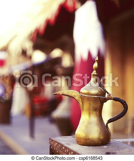 Qatari coffee pot welcome - csp6168543