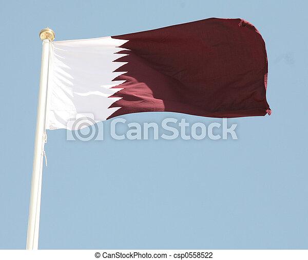 Qatari flag - csp0558522
