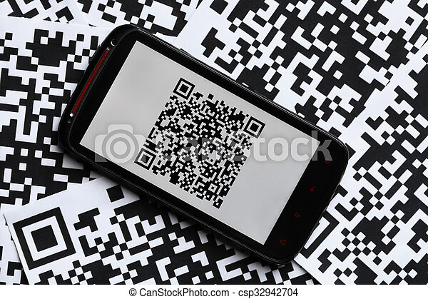 Qr Code Mobile Scanner A Mobile Phone Next To A Qr Code Printed On