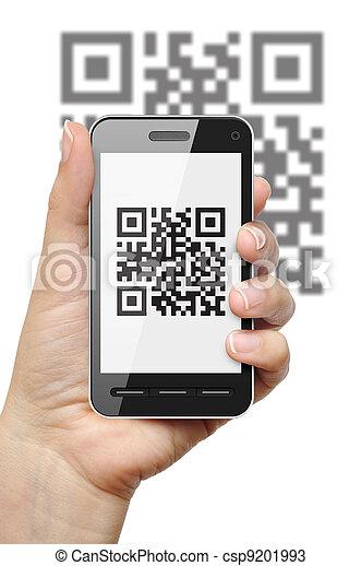 QR code on mobile phone - csp9201993