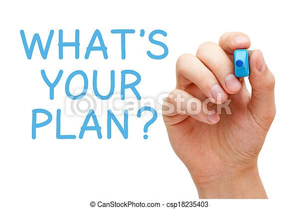 qué, plan, su - csp18235403