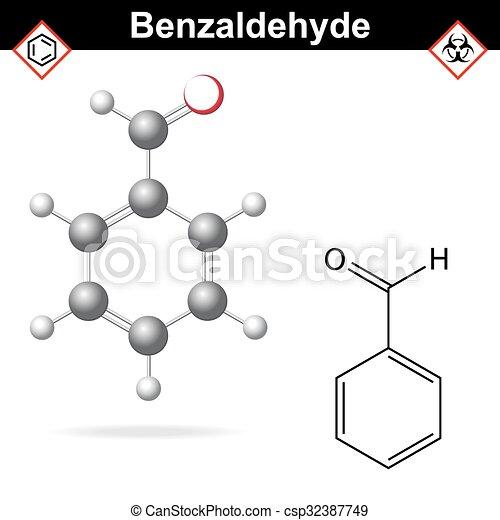 Químico Fórmula Molecular Benzaldehyde Estructura