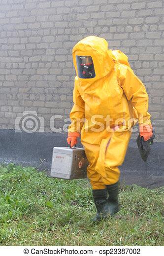 químico, proteção, homem, paleto - csp23387002