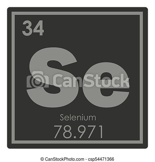 Qumico selenio elemento ciencia smbolo selenio elemento qumico selenio elemento csp54471366 urtaz Images