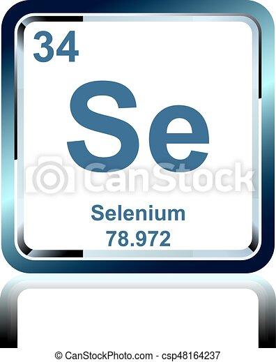 Qumico tabla peridico selenio elemento elementos vectores qumico tabla peridico selenio elemento csp48164237 urtaz Image collections