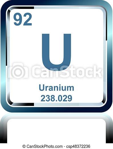 Qumico tabla peridico uranio elemento elementos qumico tabla peridico uranio elemento vector urtaz Images