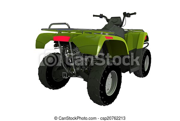 Quad Bike ATV Rear View - csp20762213