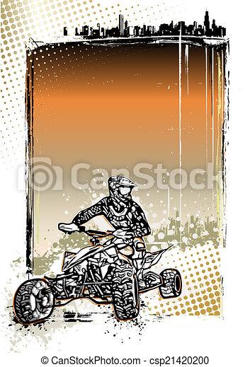 quad bike poster background - csp21420200