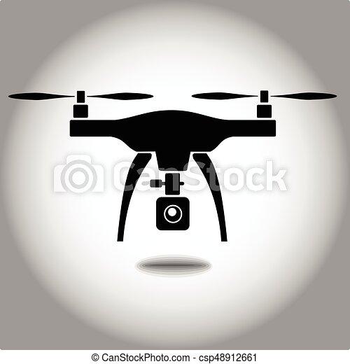 quadcopter, câmera, rc, zangão - csp48912661