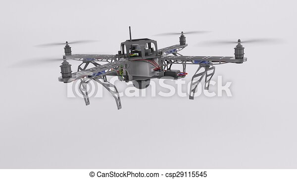 Quadcopter Drone Stock Illustration