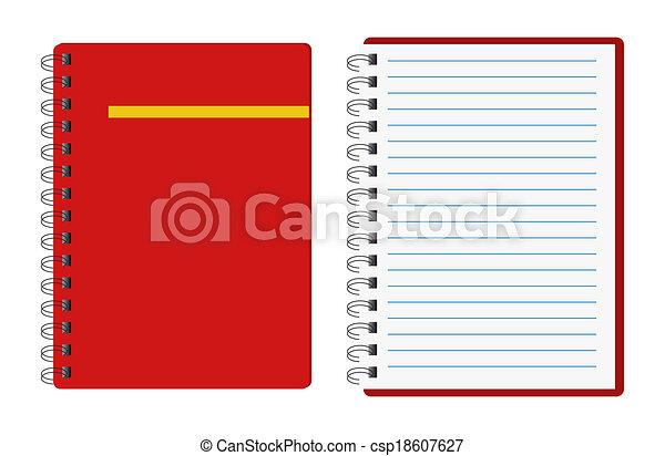 quaderni, rosso - csp18607627