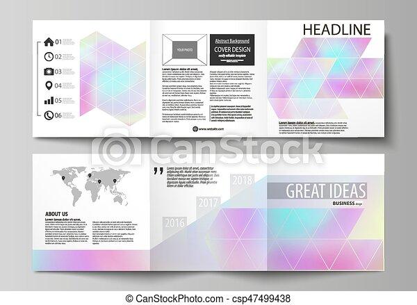 Quadrat, effect., abstrakt, verwischt, falzen, design, farben ...