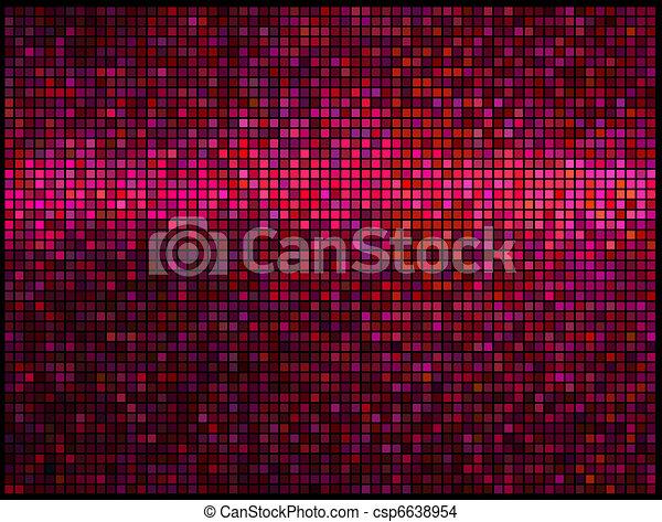 quadrat, lichter, abstrakt, disko, hintergrund., mehrfarbig, vektor, rotes , pixel, mosaik - csp6638954