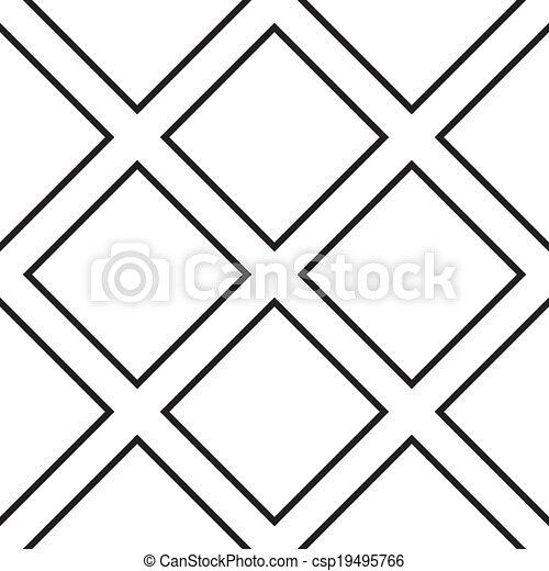 Quadrat Transparent Zaun Kreuz Diagonal Hintergrund Element
