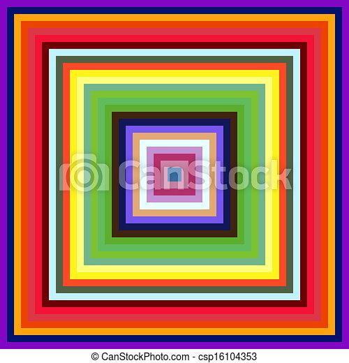 quadrato, colorito, astratto, fondo., decrescente, cornici, formato - csp16104353