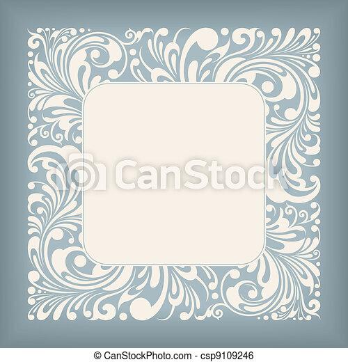 quadrato, ornamento, etichetta - csp9109246