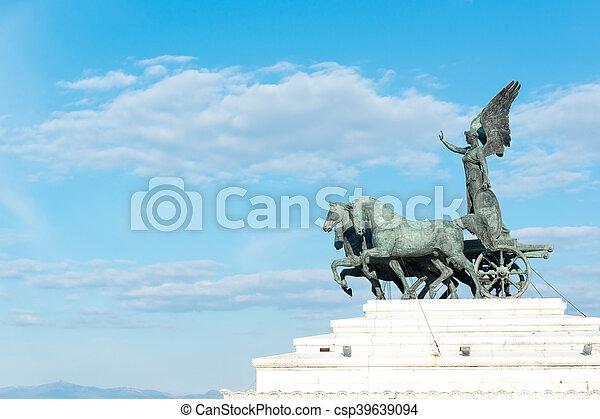 Quadriga dell'Unita statue - csp39639094