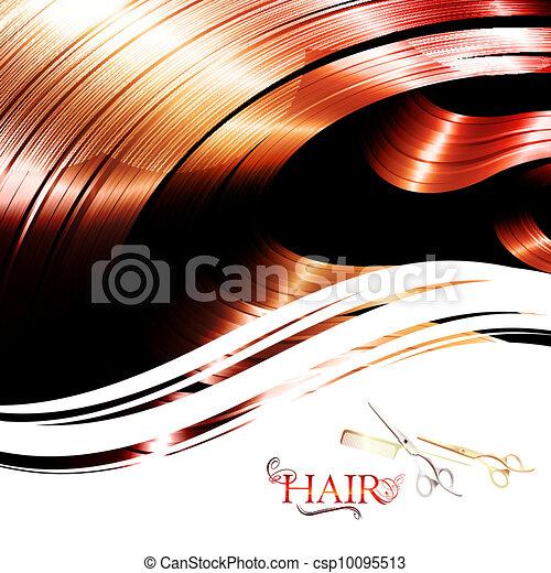 quadro, cabelo - csp10095513