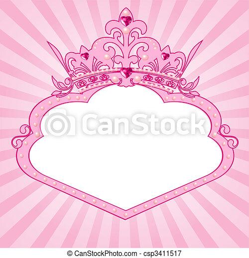 quadro, coroa, princesa - csp3411517