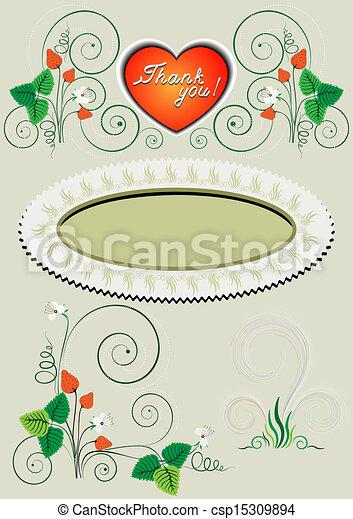 quadro, decoração, canto - csp15309894